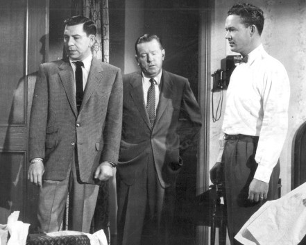 Jack Webb as Joe Friday and Ben Alexander as Frank Smith portrayed detectives on the popular television series Dragnet in the 50s.